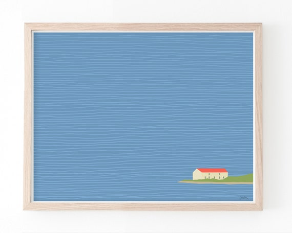 House on the Water Art Print. Framed or Unframed. Multiple Sizes Available. 150331.