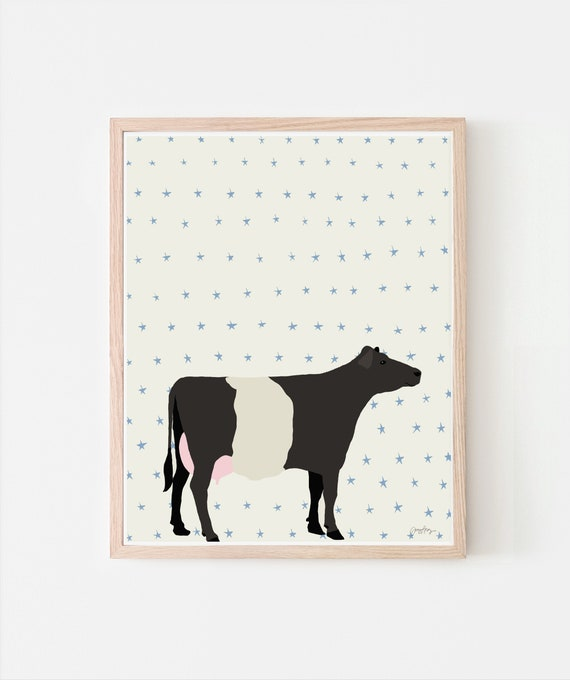 Cow Art Print. Signed. Multiple Sizes. Framed or Unframed. 120913.
