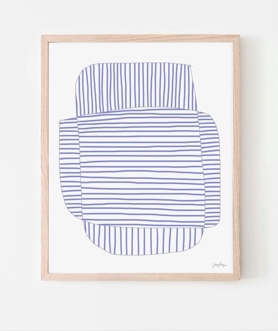 Hyacinth Stripe Study Art Print. Available Framed or Unframed. 170822.