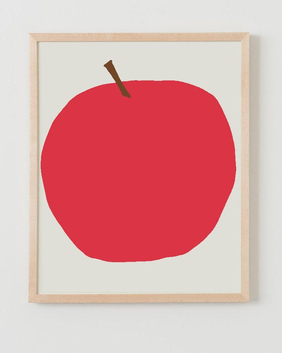 Fine Art Print.  Red Apple. September 5, 2012.
