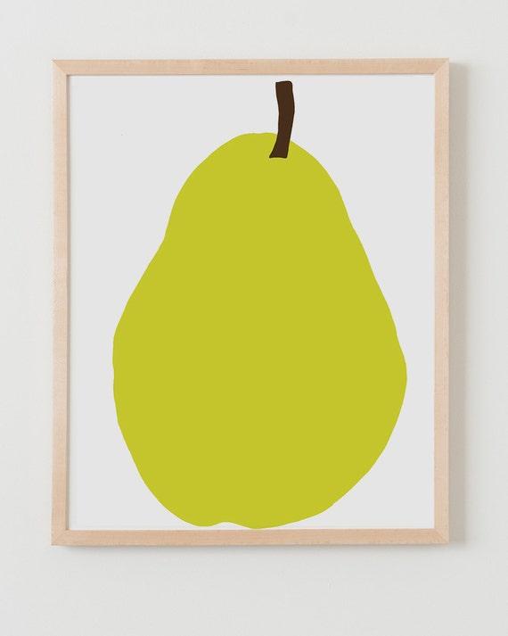 Fine Art Print.  Bartlett Pear.  December 12, 2012.