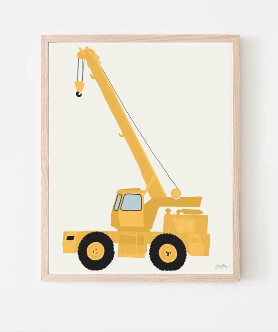 Construction Crane Art Print. Available Framed or Unframed. 130820.