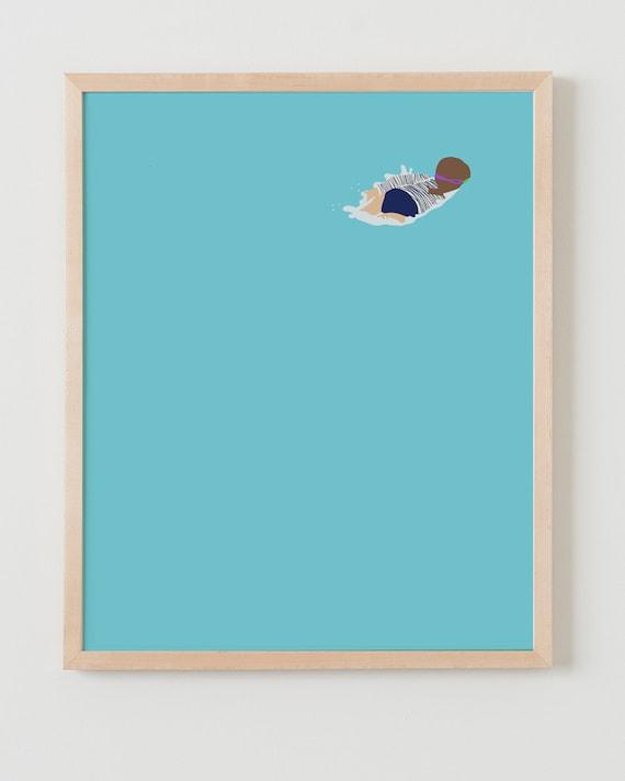Fine Art Print. Girl in Swimming Pool. June 22, 2015.