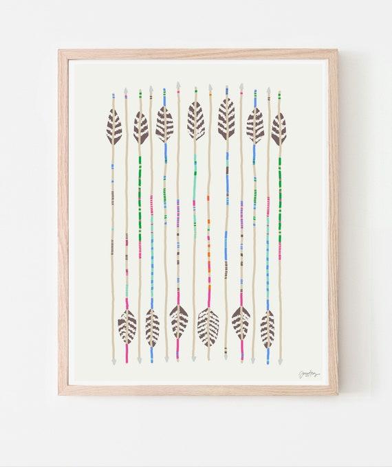 Arrows Art Print. Available Framed or Unframed. 120328.