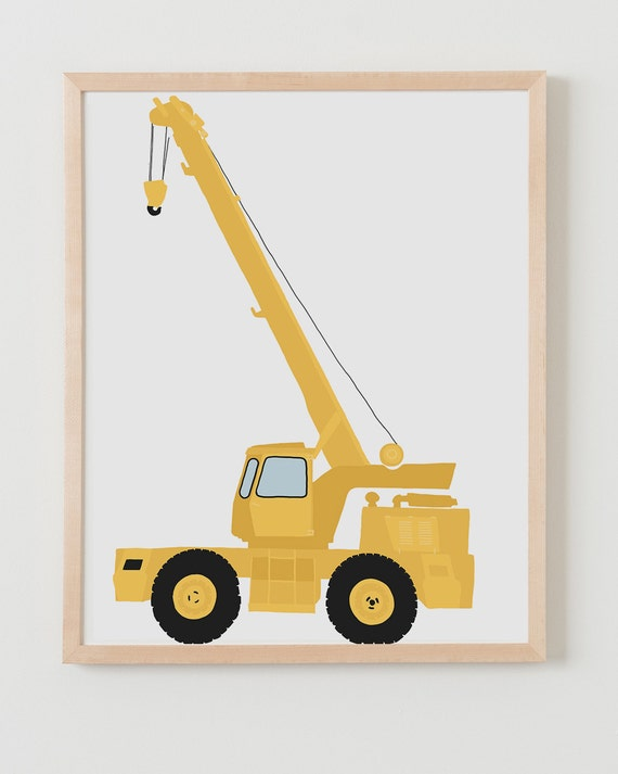 Fine Art Print. Construction Crane, August 20, 2013.