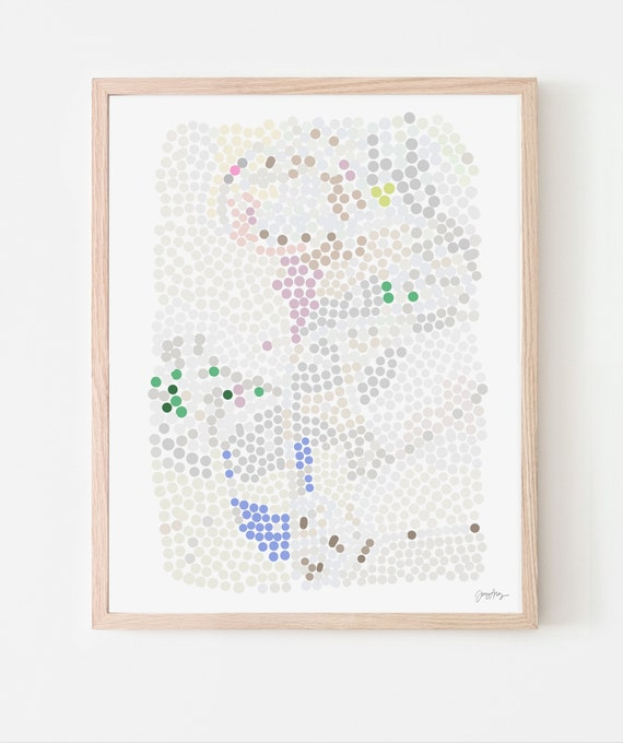 Abstract with Dots Art Print. Available Framed or Unframed. 200320.