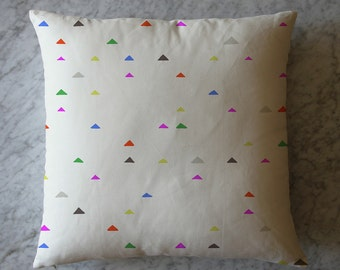 Pillow with Triangles. February 18, 2015