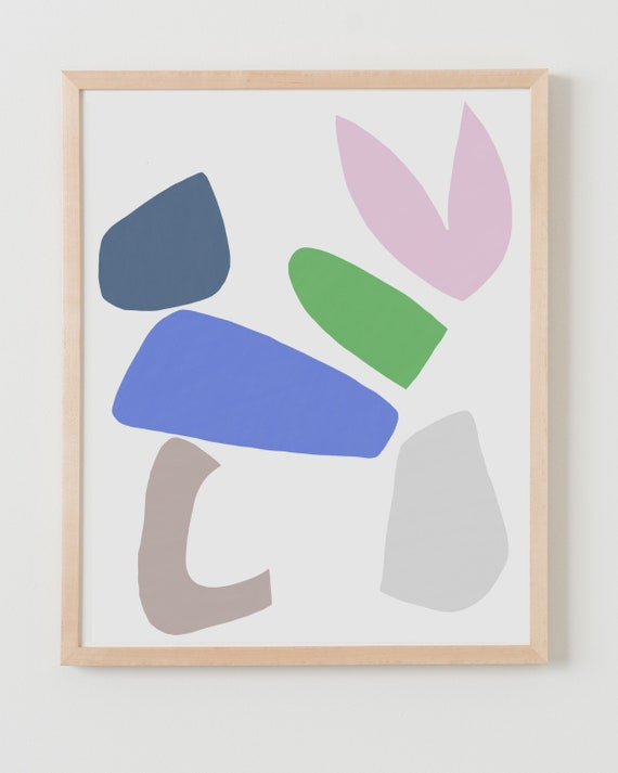 Fine Art Print.  Abstract with Pink, Purple, and Green. Available Framed or Unframed.