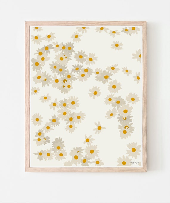 Daisies Art Print. Available Framed or Unframed. 140330.