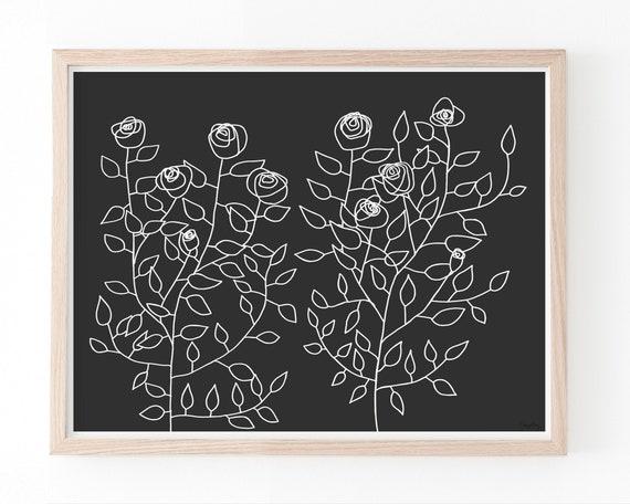 Roses Art Print. Available Framed or Unframed. 151118.