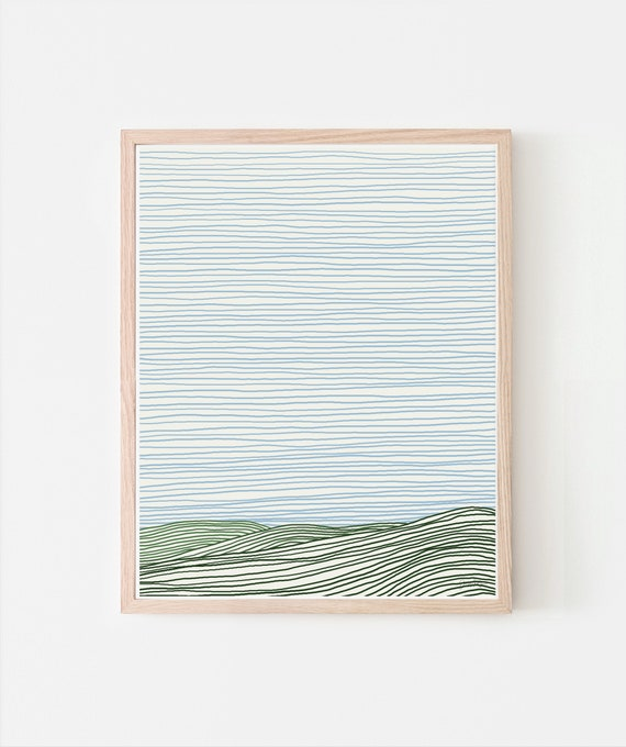 View of Striped Hills. Signed. Available Framed or Unframed. 120924.