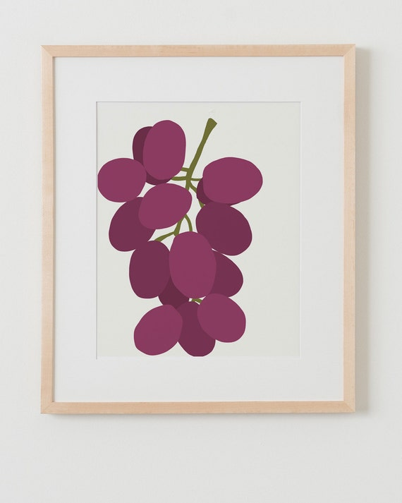 Fine Art Print.  Bunch of Grapes, October 7, 2014.
