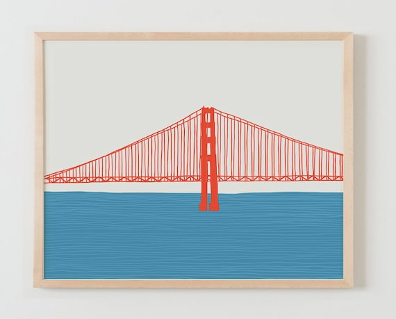 Framed Fine Art Print.  Golden Gate Bridge. March 23, 2015.