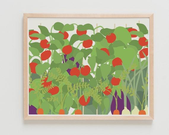 Vegetable Garden Fine Art Print. Available Framed or Unframed.