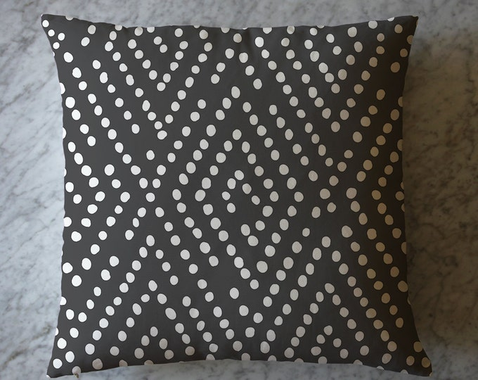 Pillow with Dots on Charcoal.  April 12, 2016