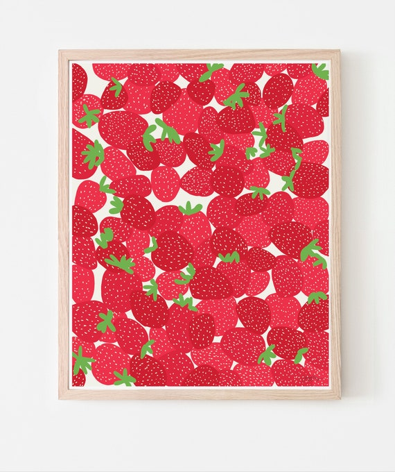 Strawberries Fine Art Print. Framed or Unframed. Multiple Sizes Available. 110728.