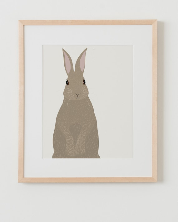 Fine Art Print.  Rabbit.  January 6, 2016.