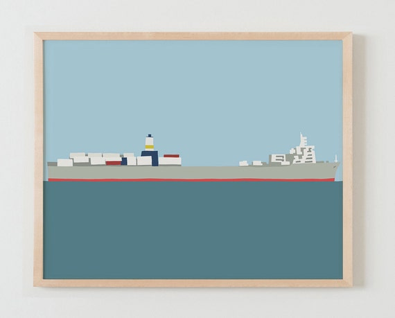 Fine Art Print. Container Ship. January 26, 2015.