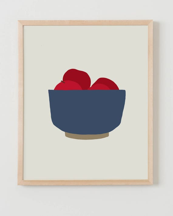 Fine Art Print.  Bowl of Apples. October 1, 2012.