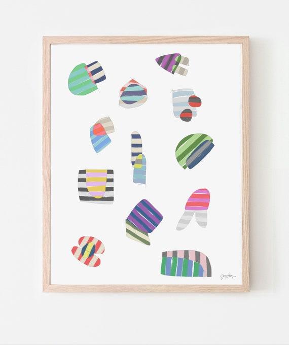 Stripe Study Art Print. Available Framed or Unframed. 171010.