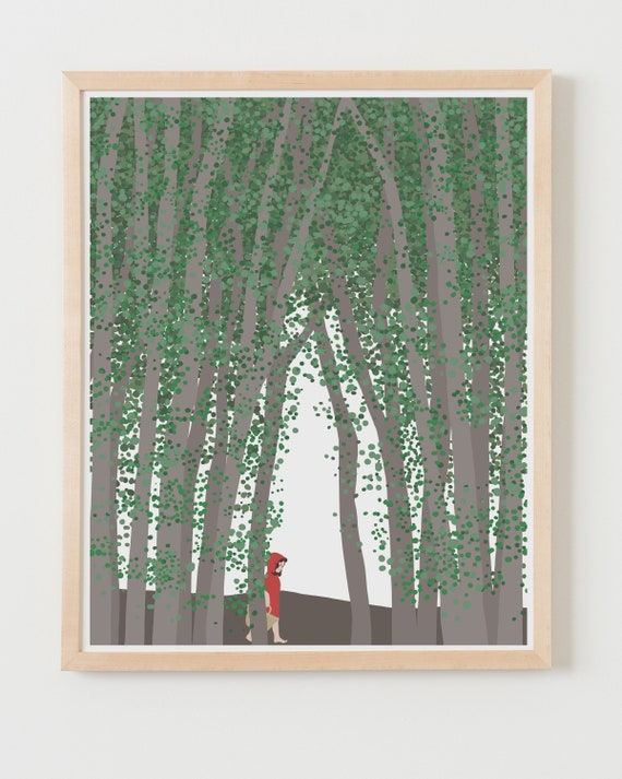 Fine Art Print. Little Red Riding Hood. Available Framed or Unframed.