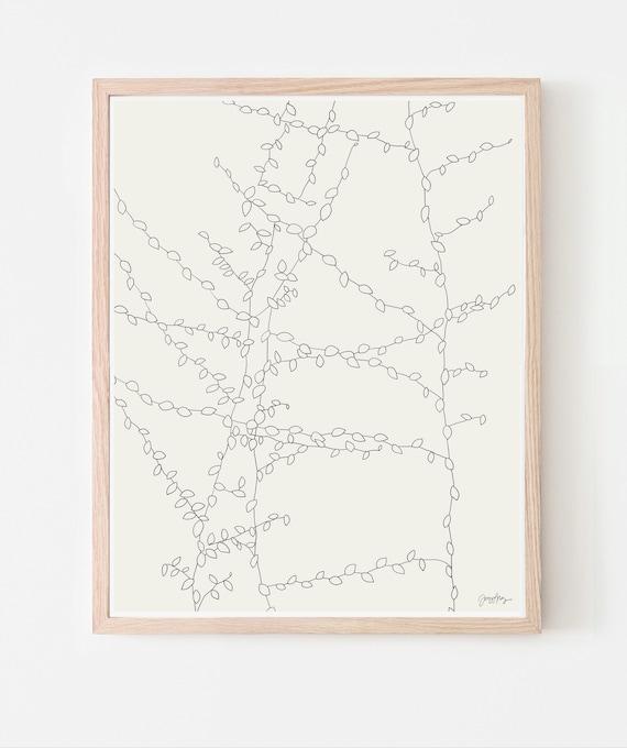 Vine Art Print. Multiple Sizes. Framed or Unframed. 140726.