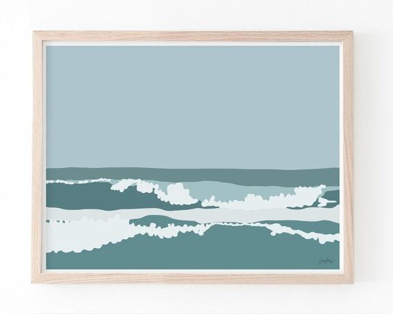 Waves Landscape Art Print. Available Framed or Unframed. 160218.