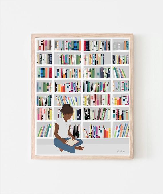 Bookworm Art Print. Signed. Available Framed or Unframed. 200721.