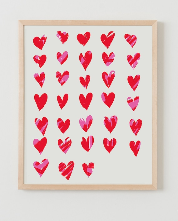 Fine Art Print. Hearts. Available Framed or Unframed.