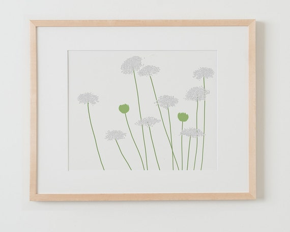 Fine Art Print.  Queen Anne's Lace - Landscape Format, August 19, 2015.