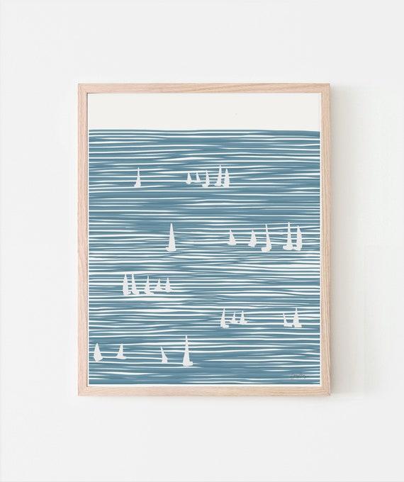 Sailboats Art Print. Signed. Available Framed or Unframed. Multiple Sizes. 140324.