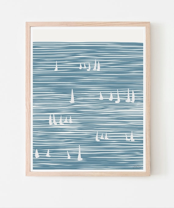 Sailboats Art Print. Available Framed or Unframed. 140324.