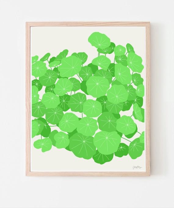 Nasturtiums Art Print. Available Framed or Unframed. Multiple Sizes. 120131.
