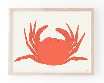 Crab Art Print. Multiple Sizes. Framed or Unframed. 140811.