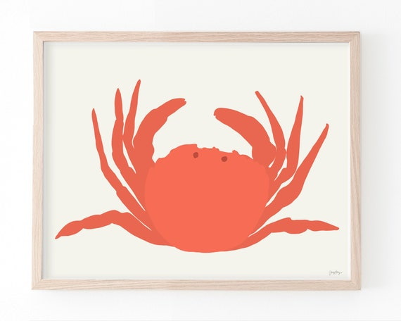 Crab Art Print. Multiple Sizes. Framed or Unframed. 140811.
