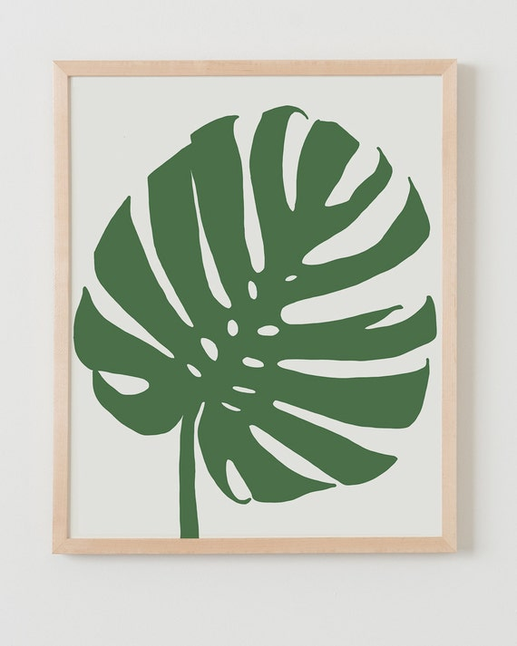 Fine Art Print.  Tropical Plant Leaf.  January 8, 2014.