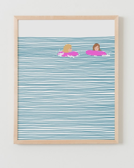 Fine Art Print. Girls in Floaties. August 9, 2013.