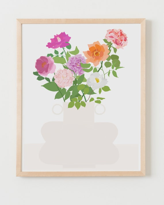 Fine Art Print. Still Life with Roses. Available Framed or Unframed.