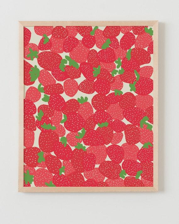 Fine Art Print. Strawberries. Available Framed or Unframed.