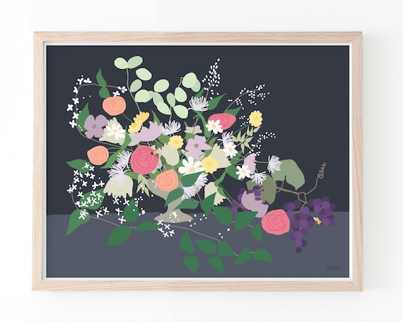 Still Life with Flowers Art Print. Available Framed or Unframed. 191125.