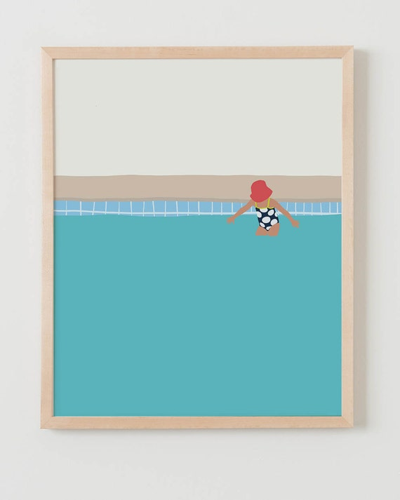 Fine Art Print. Girl in the Pool. July 2, 2014.