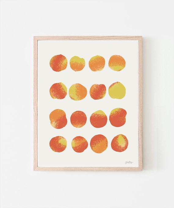 Peaches Art Print. Signed. Multiple Sizes. Framed or Unframed. 120724.