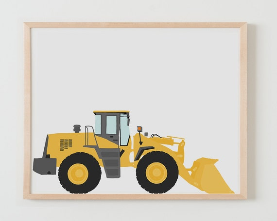 Fine Art Print.  Front Loader. September 15, 2013.