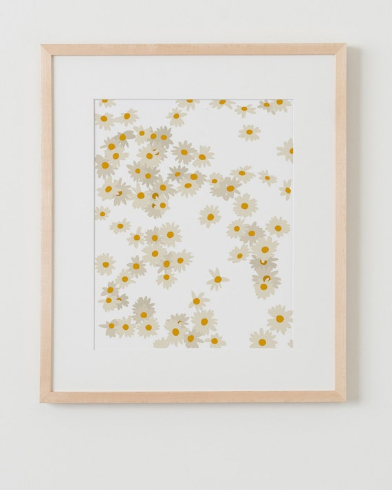 Fine Art Print.  Daisies.  March 30, 2014.
