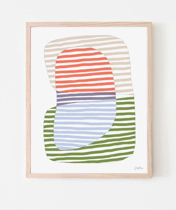 Stripes Abstract Art Print. Available Framed or Unframed. 170911.