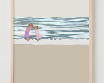 Fine Art Print. Girls at the Beach. June 19, 2014.
