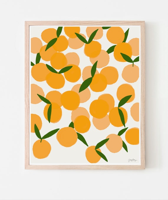 Clementines Fruit Art Print. Available Framed or Unframed. 111222.