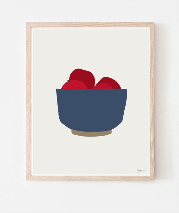 Bowl of Apples Fine Art Print. Available Framed or Unframed. Multiple Sizes. 121001.