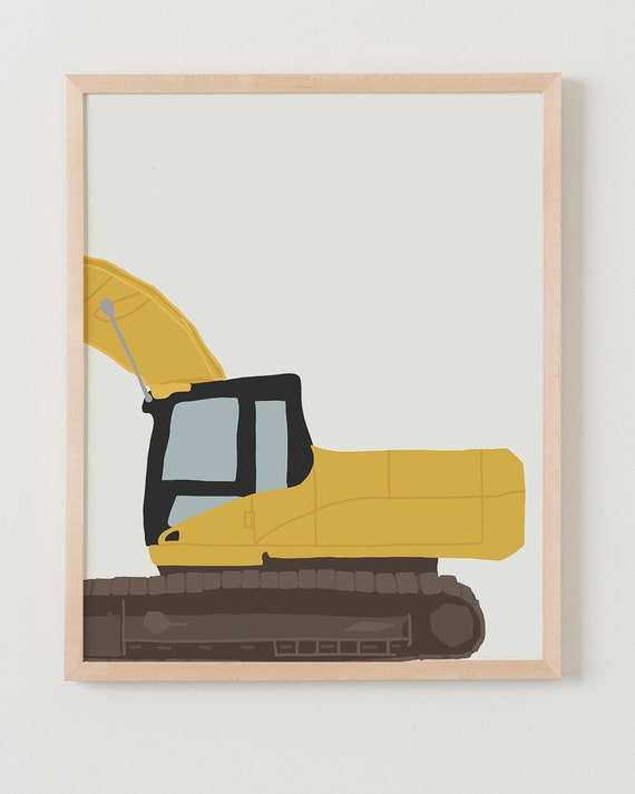 Fine Art Print.  Backhoe (back). December 13, 2014.