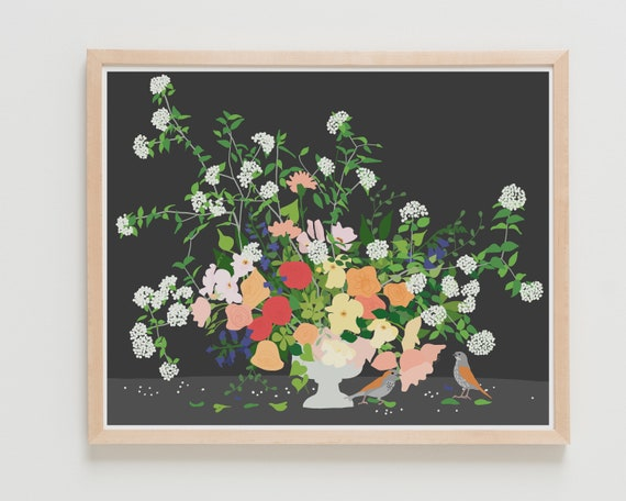 Still Life with Flowers Art Print. 200205. Framed or Unframed.